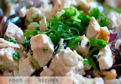 Salade de poulet fumé - les meilleures recettes. Comment bien et savoureux salade cuite au poulet fumé