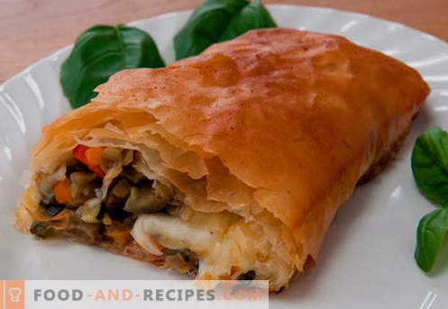 Meat strudel - the best recipes. How to properly and tasty to prepare a strudel with meat.