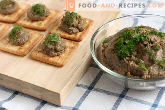 Mushroom pate - the best recipes. How to properly and tasty cook mushroom pate.