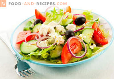 Low-calorie salads - how to properly and tasty cook them