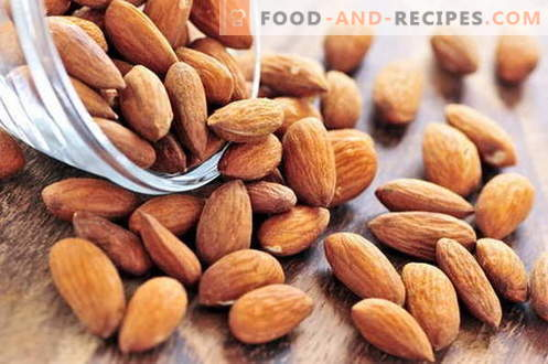 Almonds - description, properties, use in cooking. Recipes dishes with almonds.