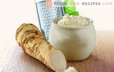 Spicy couple - horseradish with garlic. We make seasonings and sauces, preserve and prepare horseradish snacks with garlic