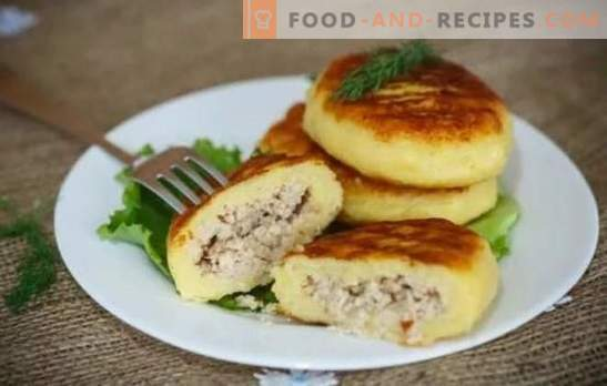 Zrazy potato: step-by-step recipes ruddy cutlets or pies? All the secrets, cooking and stuffing for potato zraz (step by step)