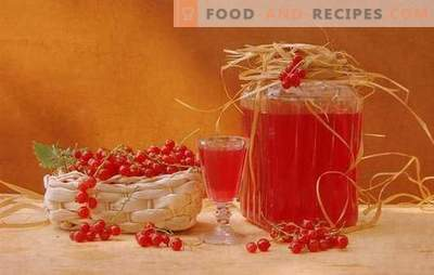 Cognac, alcohol and vodka currant liqueurs. Recipes for homemade currant liqueurs black and red