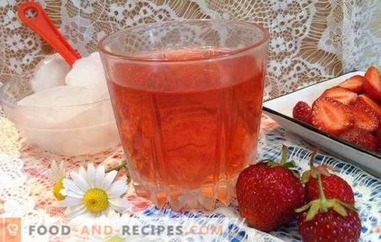 Strawberry compote - recipes for the table and for the winter. With mint and vanilla, with cherry and orange: the best strawberry compotes