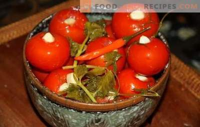 Marinated tomatoes with garlic - the favorite snack! Recipes pickled tomatoes with garlic: memorable taste