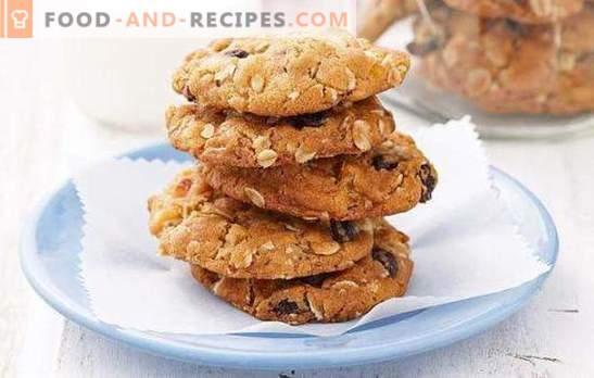 Oatmeal cookies on kefir - for tea! How to bake oatmeal cookies on kefir shortbread, jam, crunchy, without flour, with honey