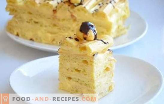 Custard Cake - Step-by-step recipes for a delicious dessert. Cooking homemade chocolate cakes with custard (step by step)
