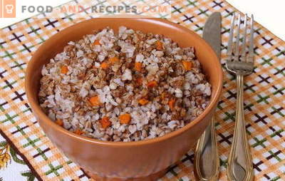 Buckwheat with carrots - smart porridge! Recipes for cooking buckwheat with carrots and onions, tomatoes, mushrooms, chicken, eggs
