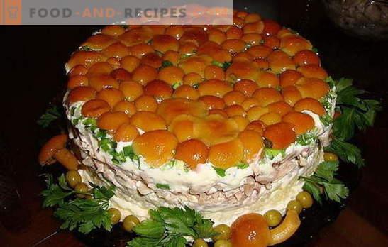 Salad with mushrooms and ham - 8 best recipes. How to quickly cook a delicious salad with mushrooms and ham, arrange and serve
