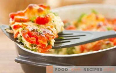 Zucchini and tomato casserole is a light and filling dish for dinner. The most interesting recipes casserole zucchini and tomato