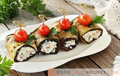 Eggplant dishes with garlic and mayonnaise - with taste. Vegetable cakes, rolls: light eggplant dishes with garlic and mayonnaise