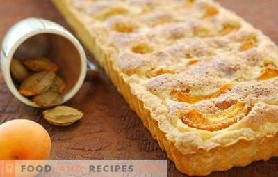 Sand cake with apricots - crumbly and juicy! Sand tart apricot recipes for delicious tea drinking