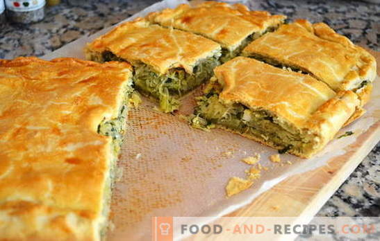 Pie with cabbage in a hurry - so quick! Recipes for pies with cabbage in a hurry from aspic, puff, shortbread dough