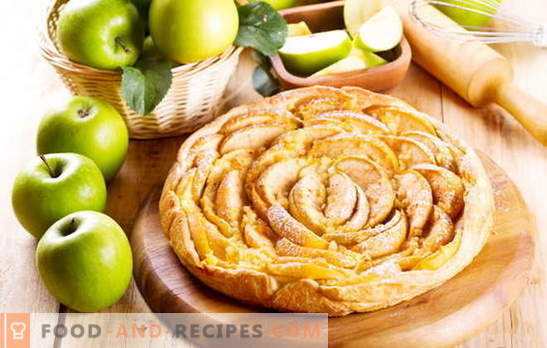 How to quickly make a puff pastry cake with apples. Apple, cinnamon, raisin and apricot jam layer cake