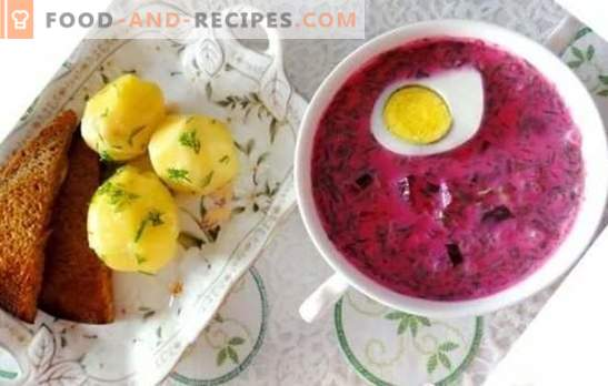 Beet fridge: a step-by-step recipe for summer soup. Easy and refreshing step-by-step recipes of holodnik from fresh and pickled beets