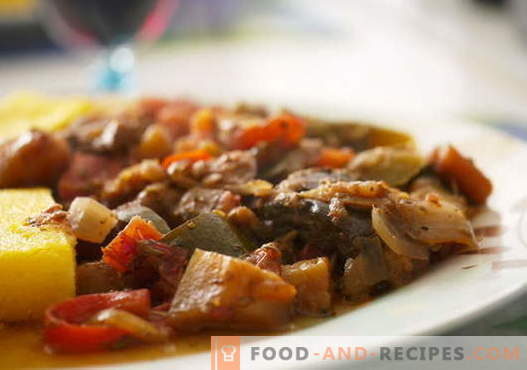 Eggplant with meat - the best recipes. How to properly and tasty cook eggplant with meat.