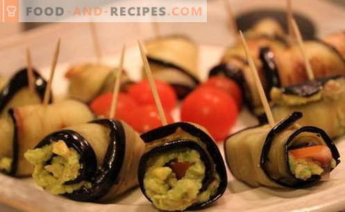 Eggplant rolls - the best recipes. How to properly and tasty cook eggplant rolls.