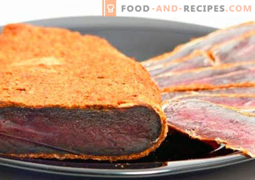 Home basturma - the best recipes. How to properly and tasty cook basturma of beef or chicken at home.