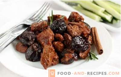 Beef with prunes stewed and baked: perfect roast! Copyright recipes tender beef with prunes