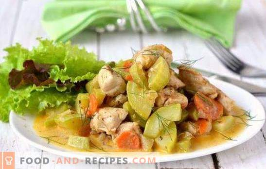 Chicken with zucchini in a slow cooker - a tasty combination. The best recipes for chicken with zucchini in a slow cooker: roast, rice and mushrooms