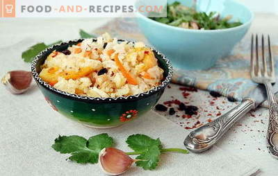 Pilaf in the oven: the main nuances of cooking. Pilaf recipes in the oven: meat, vegetable, sweet