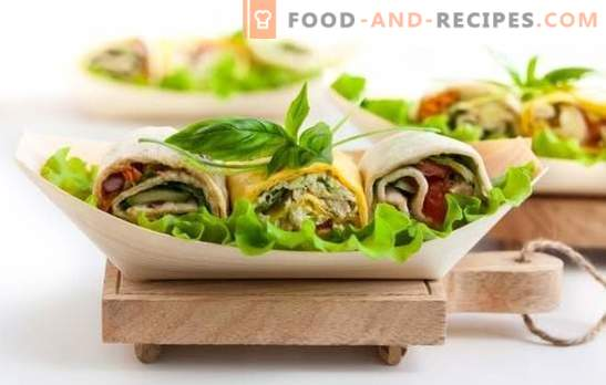 Tortilla with filling - recipes for delicious tortillas! Cooking delicious tortillas with fillings according to the best recipes