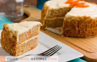Carrot sponge cake - sunny dessert! Recipes of delicate carrot biscuits with nuts, prunes, zest in a slow cooker and oven