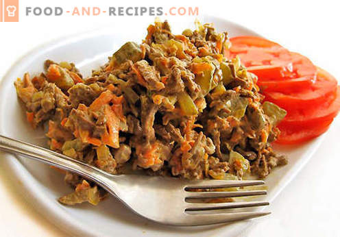 Liver salad - a selection of the best recipes. How to properly and tasty cook liver salad.