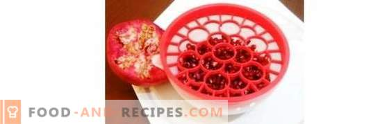 How to clean the pomegranate quickly so that the grains do not fly apart and the juice does not splash. How to clean the pomegranate and serve it to the table according to etiquette