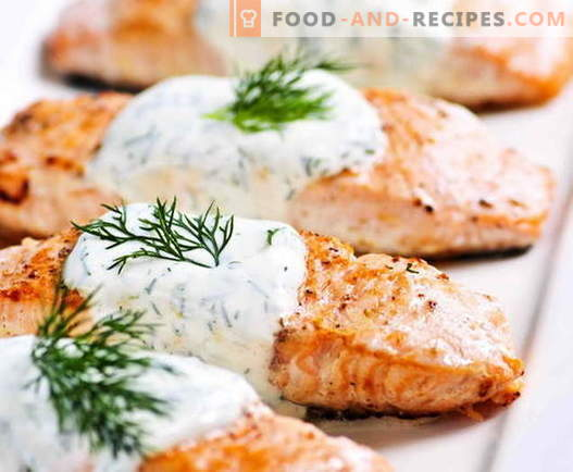 Salmon baked in the oven - we cook royal fish in a royal way!