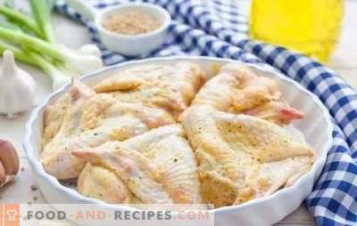 Wings in mayonnaise with different sauces. Quick, tasty, festive, always in a new way - recipes of chicken wings in mayonnaise