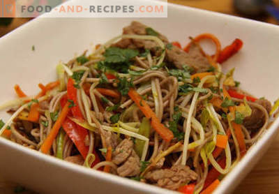 Buckwheat noodles - the best recipes. How to properly and tasty cook buckwheat noodles at home.