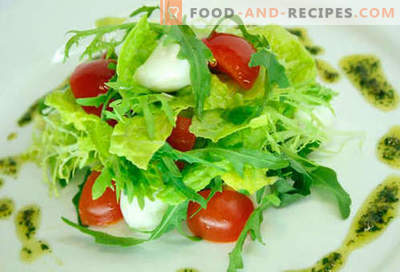 Salad with cherry tomatoes - five best recipes. How to properly and tasty to cook a salad with cherry tomatoes.