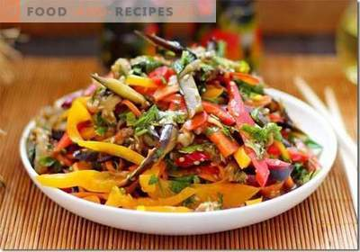 Korean Eggplant - the best recipes. How to properly and tasty cook eggplant in Korean.