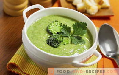 Broccoli cream soup: recipes for diet and basic nutrition. Variety of recipes for cream - soup from simple to complex broccoli