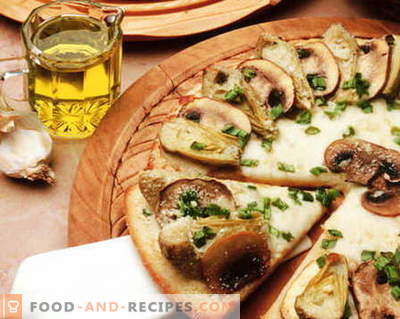 Pizza with mushrooms - the best recipes. How to properly and tasty cook mushroom pizza.