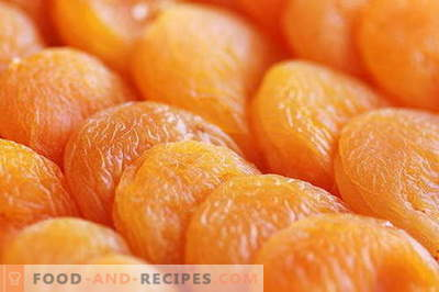 Dried apricots - description, properties, use in cooking. Recipes with dried apricots.