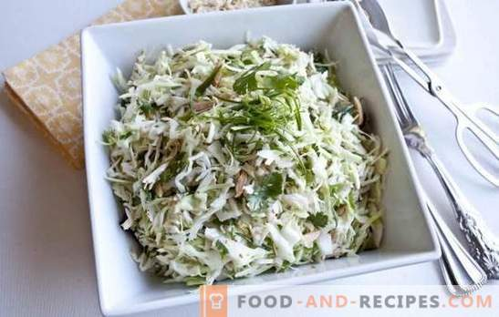 Salad with Chinese cabbage and sausage - worth a try! Recipes salad with Chinese cabbage and sausage: for all
