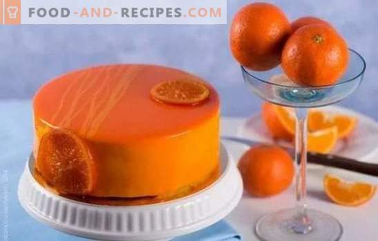 Cooking with pleasure: chocolate-orange cake. Recipes simple and complex orange cakes with chocolate and without