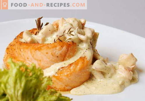 Cream sauce - the best recipes. How to properly and tasty cooked cream sauce.
