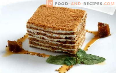 Honey cake classic - a recipe for everyone's favorite cake. Classic recipes honey cake with condensed milk, sour cream, custard