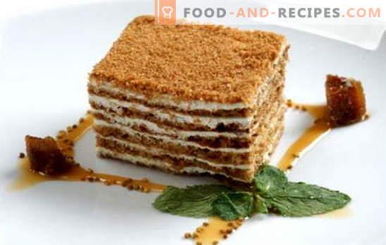 Honey cake classic - a recipe for everyone's favorite cake. Classic recipes honey cake with condensed milk, sour cream, custard