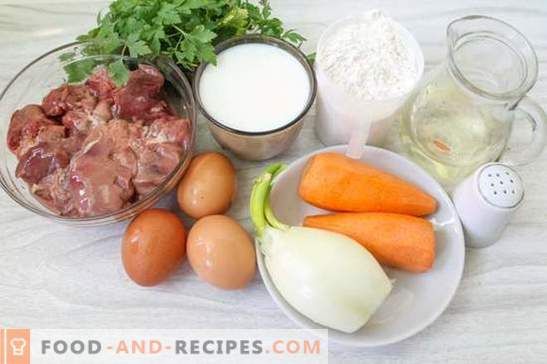 Liver cake from chicken liver (photo-recipe): the secret of juiciness! Step by Step Cooking Chicken Liver Cake with Photos