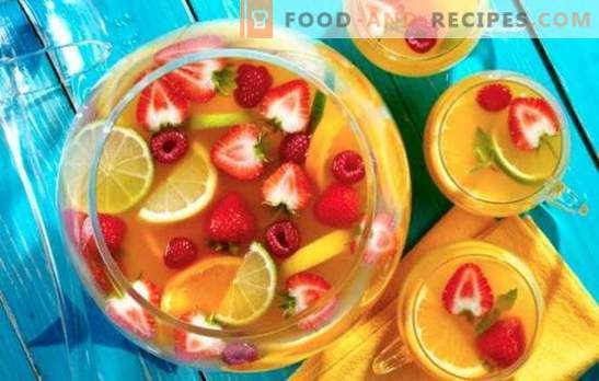 How to make non-alcoholic punch at home. The most delicious options for healthy and original drink