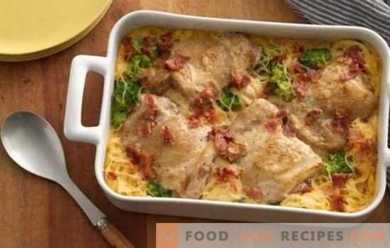 Potatoes in the oven with chicken: a step by step recipe. How to quickly and tasty cook delicious potatoes in the oven with chicken on step-by-step recipes