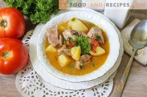 Pork shurpa - a hearty and rich first course