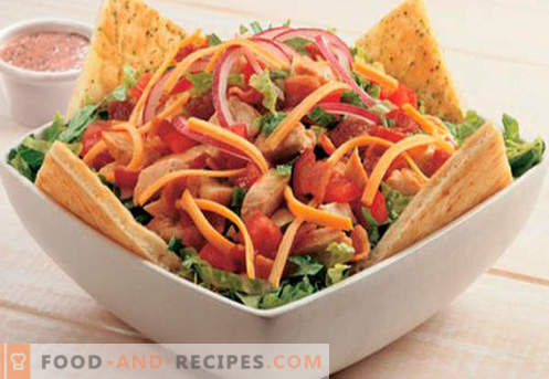 Smoked sausage salad - proven recipes. How to cook a salad with smoked sausage.