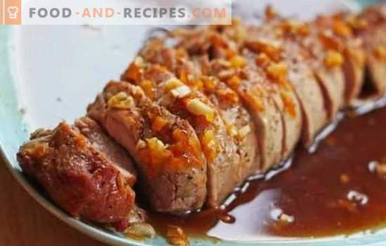 Pork in honey sauce is a delicious dish. How to cook pork in honey, honey mustard and honey-orange sauce