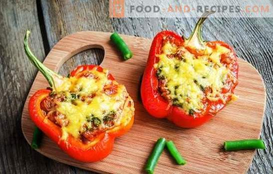 Pepper stuffed in the oven with cheese - will certainly be awesome! Recipes for stuffed peppers in the oven with cheese